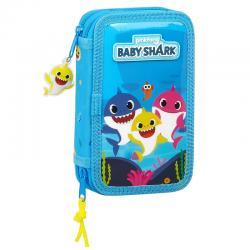 Plumier Baby Shark doble 28pzs - Imagen 1