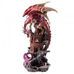 Figura Dragon Leyenda Oscura Sobre Castillo - Imagen 1