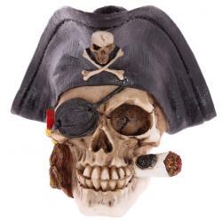 Figura Calavera Pirata con Cigarro - Imagen 1