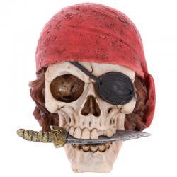 Figura Calavera Pirata Pañuelo y Cuchillo - Imagen 1