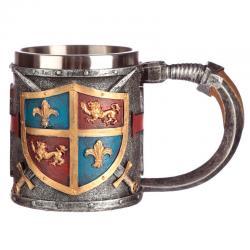 Taza Escudo y Espada Medieval - Imagen 1