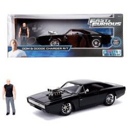 Coche metal Dodge Charger R/T con figura Dom Fast and Furious - Imagen 1