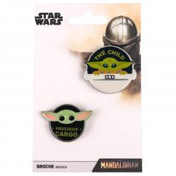 Set 2 broches Yoda Child The Mandalorian Star Wars - Imagen 1