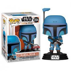 Figura POP Star Wars Mandalorian Death Watch Mandalorian Two Stripes Exclusive - Imagen 1
