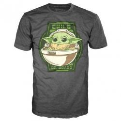 Camiseta Yoda The Child On Board Mandalorian Star Wars - Imagen 1