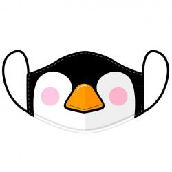 Mascarilla reutilizable Cutiemals Penguin L - Imagen 1