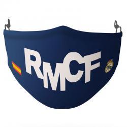 Mascarilla reutilizable Siglas Real Madrid infantil - Imagen 1