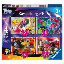 Puzzle Trolls 2 12-16-20-24pz - Imagen 1