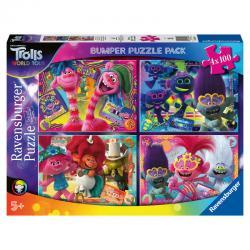 Puzzle Trolls 2 4x100pz - Imagen 1