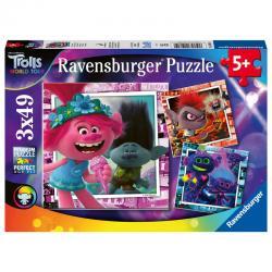 Puzzle Trolls 2 3x49pz - Imagen 1