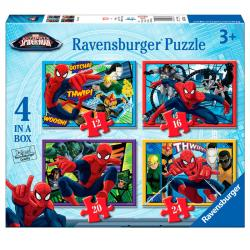 Puzzle Ultimate Spiderman Marvel 12-16-20-24pz - Imagen 1