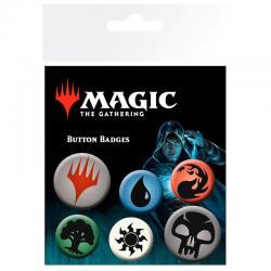 Set chapas Symbols Magic The Gathering Mana - Imagen 1