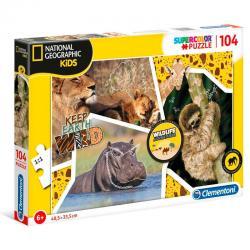 Puzzle Wildlife Adventurer National Geographic Kids 180pzs - Imagen 1