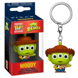 Llavero Pocket POP Disney Pixar Alien Remix Woody - Imagen 1