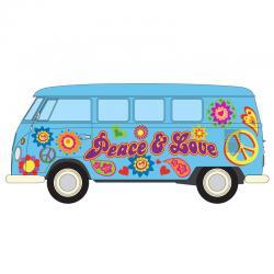 Campervan Volkswagen Peace Love and Freedom - Imagen 1