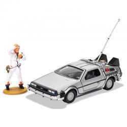 Set DeLorean + figura Doc Brown Regreso al Futuro - Imagen 1