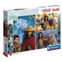 Puzzle Raya y el Ultimo Dragon Disney 3x48pzs - Imagen 1