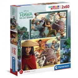 Puzzle Raya y el Ultimo Dragon Disney 2x60pzs - Imagen 1