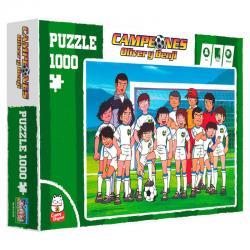 Puzzle Foto Equipo Campeones Oliver y Benji 1000pzs - Imagen 1