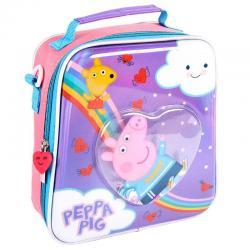 Bolsa portameriendas confetti Peppa Pig - Imagen 1
