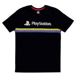 Camiseta Color Stripe Logo PlayStation - Imagen 1