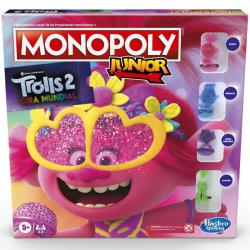 Juego Monopoly Junior Trolls World Tour - Imagen 1