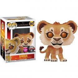 Figura POP Disney El Rey Leon Simba Flocked Exclusive - Imagen 1
