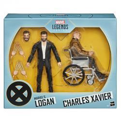 Set 2 figuras Logan y Charles Xavier X-Men Marvel Legends Series 15cm - Imagen 1