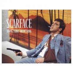 Poster cristal Tony Montana Scarface - Imagen 1