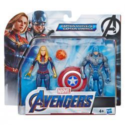 Set figuras Capitana Marvel y Capitan America Vengadores Avengers Marvel - Imagen 1