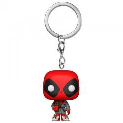 Llavero Pocket POP Marvel Deadpool Bath Robe Exclusive - Imagen 1