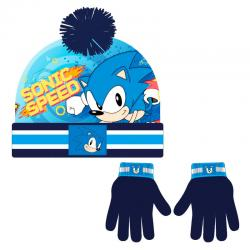 Conjunto gorro guantes Sonic The Hedgehog - Imagen 1
