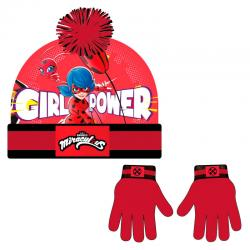Conjunto gorro guantes Prodigiosa Ladybug - Imagen 1