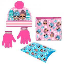 Conjunto gorro guantes braga cuello LOL Surprise - Imagen 1
