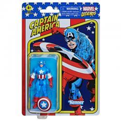 Figura Retro Capitan America Marvel 9,5cm - Imagen 1