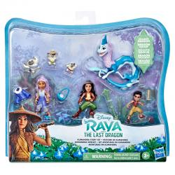 Set figuras Aventuras En Kumandra Raya y el Ultimo Dragon Disney - Imagen 1