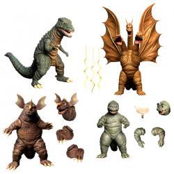 Set 4 figuras Godzilla 1968 Godzilla: Destroy All Monsters 5 Points XL - Imagen 1