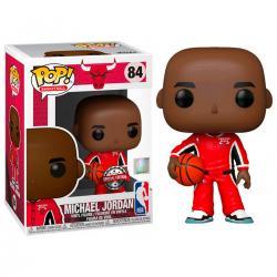 Figura POP NBA Chicago Bulls Michael Jordan Red Warm Ups Exclusive - Imagen 1
