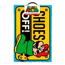 Felpudo Shoes Off Super Mario Nintendo - Imagen 1