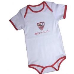Body Sevilla F.C Blanco T.6 Meses - Imagen 1