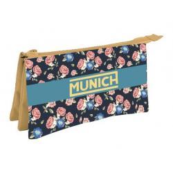 Portatodo Triple Munich Flor 21x12.5cm. - Imagen 1
