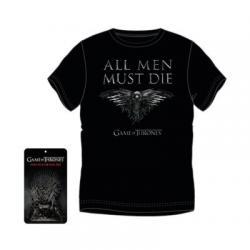 Camiseta Adulto Juego De Tronos All Men Must Die 4Und.T.S-M-L-XL - Imagen 1