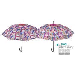 Paraguas Perletti Automatico Antiviento 61cm 6Und. - Imagen 1