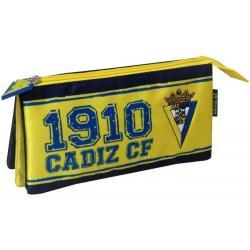 Portatodo Cadiz F.C Triple 22x12x6cm. - Imagen 1