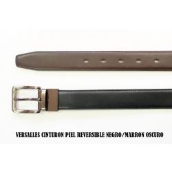 Cinturon De Piel Reversible 3cm Negro/Marron O. - Imagen 1