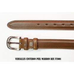 Cinturon De Piel Marron Versalles 3.5cm - Imagen 1