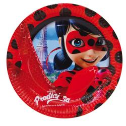 Pack 8 Platos Prodigiosa Ladybug Carton 23cm. - Imagen 1