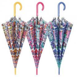 Paraguas Perletti Automatico Antiviento 61cm 6Und.Surtidos - Imagen 1