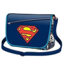 Bandolera Superman Solapa Grande 36x32cm. - Imagen 1