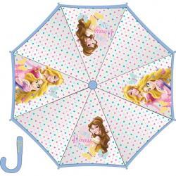 Paragua Manual Transparente Princesas 45cm. - Imagen 1